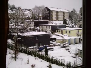 Blick aus meinem ZImmer im Studentenwohnheim