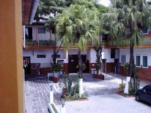 Der Innenhof unseres Hostels in Curitiba.