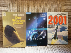 Die ersten Science-Fiction-Bücher, die ich gelesen habe.