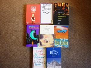 """Einige meiner ersten Bücher außerhalb der Phantastik (wobei """"Dixie Chicken"""" von Gott erzählt wird ;) )"""