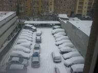 Der Parkplatz der Werkstatt direkt hinter meiner Wohnung.